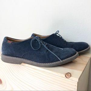 BH Bass Men's Blue Suede Pasadena Dress Shoes